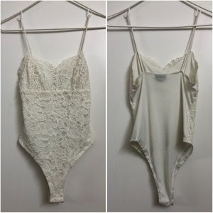Topshop Tops - Topshop Lacey Bodysuit